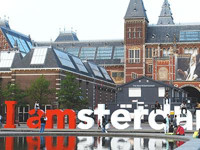 op stap in Amsterdam